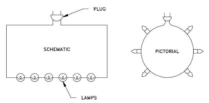 Comparison of an Electrical Schematic and a Pictorial Diagram