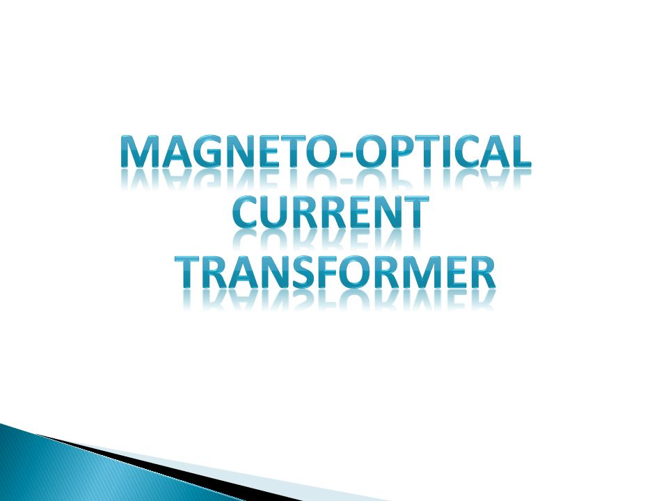 MAGNETO-OPTICAL CURRENT TRANSFORMER