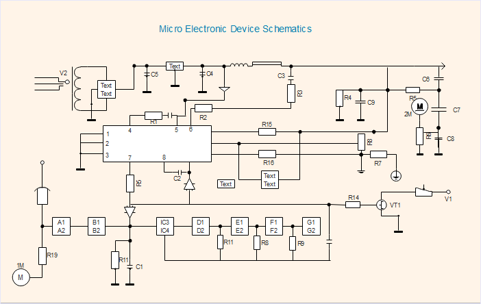 Schematic of Micro Electronic Device
