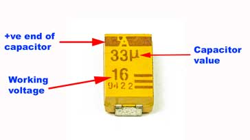 SMD tantalum capacitor  markings